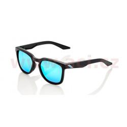 sluneční brýle HUDSON Matte Black, 100% - USA (zabarvená modrá skla)