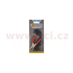 """prodloužený kabel s klipy typu """"krokodýl"""", OXFORD - Anglie (konektor SAE, délka kabelu 0,5 m)"""
