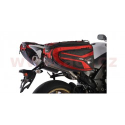 boční brašny na motocykl P50R, OXFORD - Anglie (černé/červené, objem 50 l, pár)