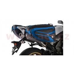 boční brašny na motocykl P50R, OXFORD - Anglie (černé/modré, objem 50 l, pár)