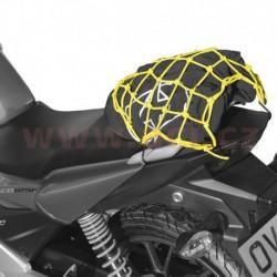 pružná zavazadlová síť pro motocykly, OXFORD - Anglie (27 x 25 cm, žlutá fluo/reflexní)