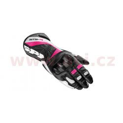 rukavice STS R LADY, SPIDI - Itálie, dámské (černé/bílé/růžové)