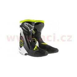 boty SMX Plus, ALPINESTARS - Itálie (černé/bílé/žluté fluo)