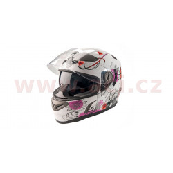 přilba N915 Butterfly, NOX - Francie (bílá/růžová/grafika)