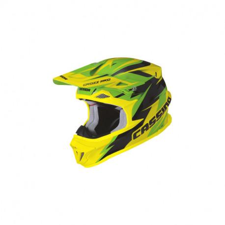 přilba Cross Pro, CASSIDA - ČR (zelená/žlutá fluo/černá)