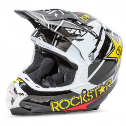 přilba F2 Rockstar, FLY RACING - USA (černá/bílá/žlutá/červená)