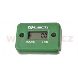 měřič motohodin, QTECH (zelený)