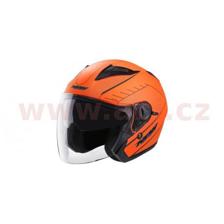 přilba N124 SOFT, NOX - Francie (oranžová neon matná)