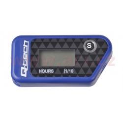 měřič motohodin bezdrátový s nulovatelným počítadlem, QTECH (modrý)