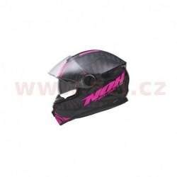 přilba N301 WILD, NOX, dámská (černá/růžová fluo, balení vč. pinlock folie)