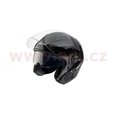 přilba N124, NOX - Francie (černá lesklá)