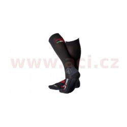 Ponožky dlouhé Los Angeles, MOTO ONE - Itálie (černé)