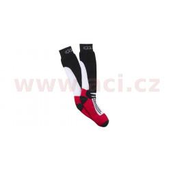 Ponožky RACING ROAD COOLMAX®, ALPINESTARS - Itálie (černá/bílá/červená)