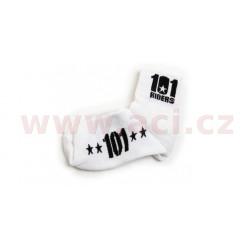 ponožky 101 FOOTWEAR, 101 RIDERS - ČR (bílé/černé)