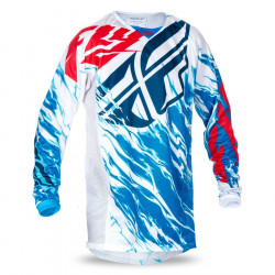 dres Kinetic RELAPSE 2017, FLY RACING - USA (červená/bílá/modrá)