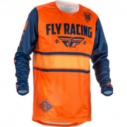 dres Kinetic ERA 2018, FLY RACING - USA (oranžová/modrá navy)