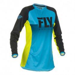 dres LITE 2019, FLY RACING - USA dámský (modrá/žlutá fluo)