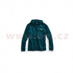 mikina na zip s kapucí Union, 100% - USA (tyrkysová)