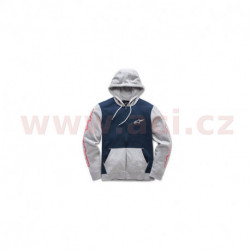 mikina s kapucí MACHINE FLEECE, ALPINESTARS (modrá navy/šedá)