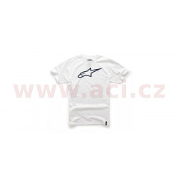triko AGELESS krátký rukáv, ALPINESTARS - Itálie (bílé/černé)