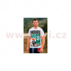 tričko ENDURO HARD krátký rukáv, 101 RIDERS - ČR (bílé)