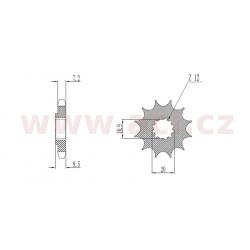 řetězové kolečko pro sekundární řetězy typu 428, SUNSTAR (15 zubů)