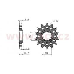 řetězové kolečko pro sekundární řetězy typu 520, SUNSTAR (15 zubů)