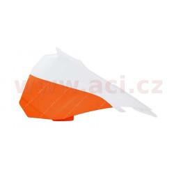 boční levý kryt airboxu KTM, RTECH (oranžovo-bílý)