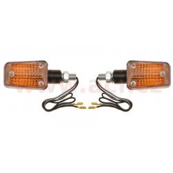 blinkr Mini krátký, OXFORD - Anglie (oranžové sklíčko, černý plášť, pár)