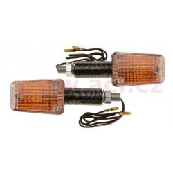 blinkr Mini dlouhý, OXFORD - Anglie (oranžové sklíčko, plášť imitace carbon, pár)