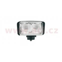 přední světlo hlavní ATV hranaté černé (120 x 72 mm, 2x 12V 10W)