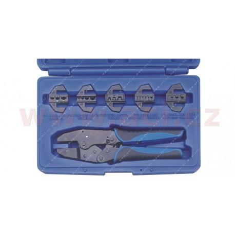 krimpovací elektrikářské kleště (5 typů čelistí)