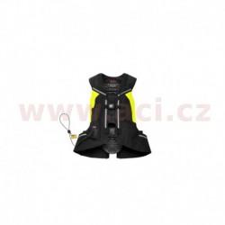 vesta s airbagem FULL DPS VEST SL celotělová, SPIDI - Itálie (černá/žlutá fluo, verze bez páteř vložky)