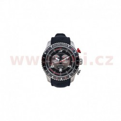 hodinky TECH RACING TIMER/CHRONO, ALPINESTARS (broušený nerez/černá/červená, pryžový pásek)