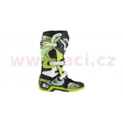 sada polepů pro boty TECH 10, ALPINESTARS - Itálie (žlutá/zelená/světle modrá)