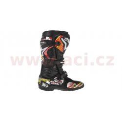 sada polepů pro boty TECH 10, ALPINESTARS - Itálie (červená/bílá/žlutá)
