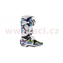 sada polepů pro boty TECH 10, ALPINESTARS - Itálie (černá/světle modrá/fialová/zelená)