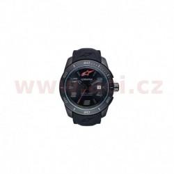 hodinky TECH ALL BLACK, ALPINESTARS (nerez/černá, pryžový pásek)