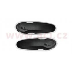 slidery špičky pro boty Supertech R/SMX PLUS/SMX-6/SMX S a SMX-1 R, ALPINESTARS - Itálie (černé/bílé, plast, pár)