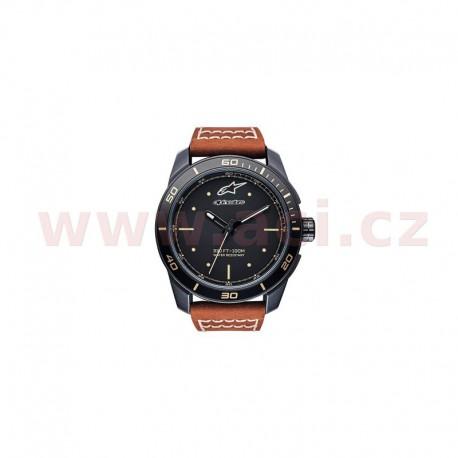 hodinky TECH HERITAGE, ALPINESTARS (černá matná, kožený pásek)