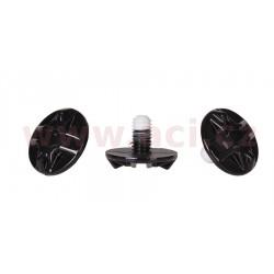 šrouby kšiltu pro přilby MX8, LAZER - Belgie (černé, sada 3 ks)