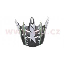 kšilt pro přilby N729, NOX - Francie (černá/zelená)