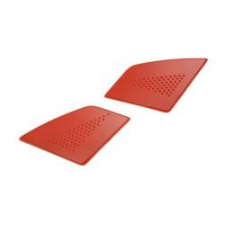 čelní kryty vrchní ventilace pro přilby EVO, CASSIDA - ČR (červené, pár)