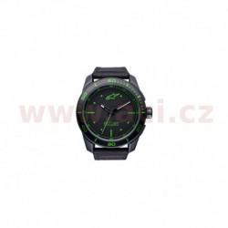 hodinky TECH PVD, ALPINESTARS - ITÁLIE (černá/zelená, textilní pásek)