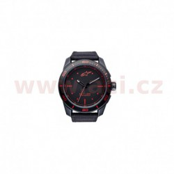 hodinky TECH PVD, ALPINESTARS - ITÁLIE (černá/červená, textilní pásek)