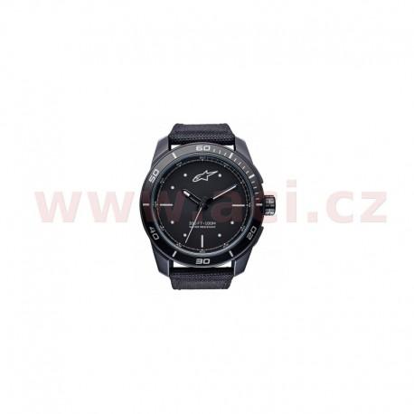 hodinky TECH PVD, ALPINESTARS - ITÁLIE (černá/bílá, textilní pásek)