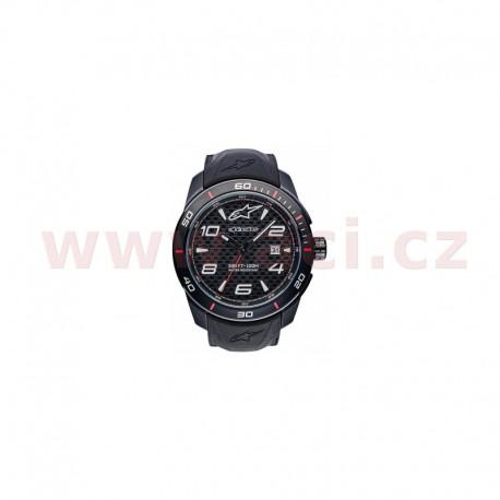 hodinky TECH PVD, ALPINESTARS - ITÁLIE (černá, pryžový pásek)