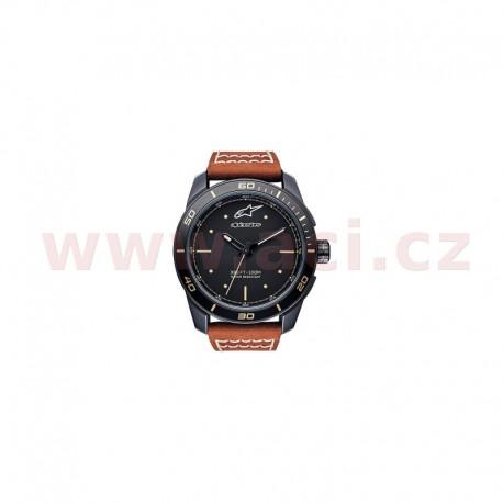 hodinky TECH HERITAGE, ALPINESTARS - ITÁLIE (černá matná, kožený pásek, verze vč. rezervního textilního pásku)