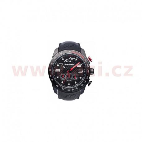 hodinky TECH CHRONO PVD, ALPINESTARS - ITÁLIE (černá/červená, pryžový pásek)