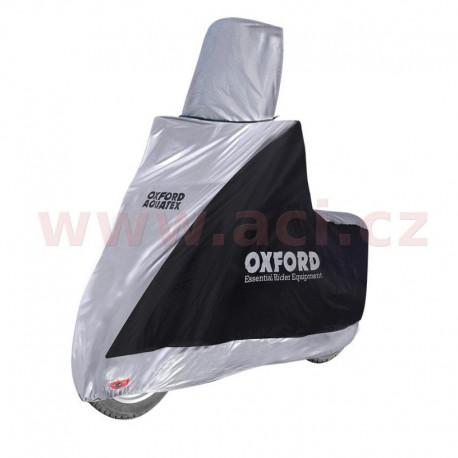 plachta na motorku Aquatex Highscreen Scooter provedení pro vysoké plexi, OXFORD - Anglie (černá/stříbrná, uni velikost)